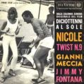 1962  Gianni Meccia/Jimmy Fontana - Nicole/Twist n.9 - RCA Italiana, PM 3125