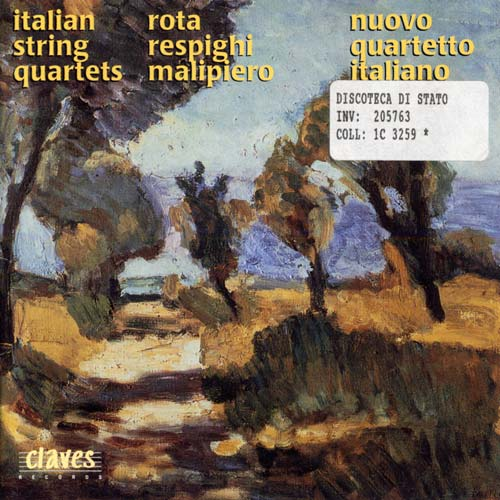Nuovo Quartetto Italiano / Rota Respighi Malipiero (cd, CLAVES, 1997)